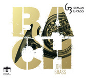 Album artwork for BACH ON BRASS / German Brass