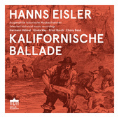 Album artwork for Eisler: Kalifornische Ballade