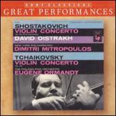 Album artwork for Shostakovich & Tchaikovsky Concertos / Oistrakh