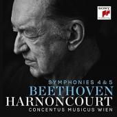 Album artwork for Beethoven: Symphonies 4 & 5 / Harnoncourt