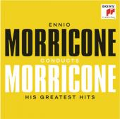 Album artwork for Ennio Moricone Conducts Morricone (Greatest Hits)