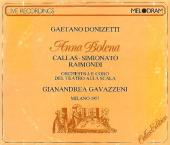 Album artwork for Donizetti: Anna Bolena / Callas, Simionata